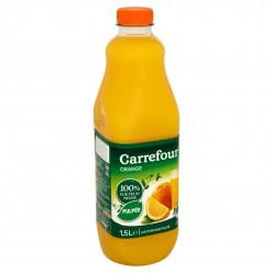 Jus d'orange 100% pur fruit pressé pulpé Carrefour