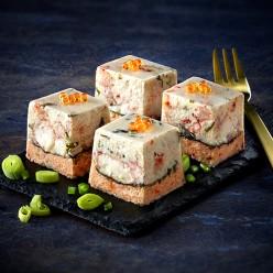 Mini entremet Noix de saint jacques et foie gras