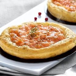 2 tartes fines au saumon et à l'aneth