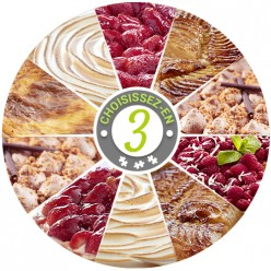 Assortiment de 3 tartes (18 parts)