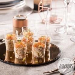 12 Verrines perles saumon
