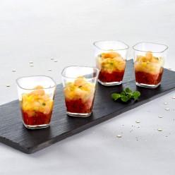 4 Verrines Tomates Saint Jacques