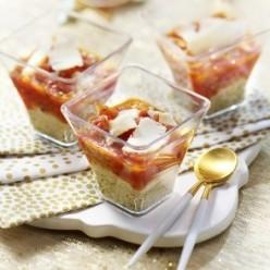 6 verrines tomates pesto parmesan