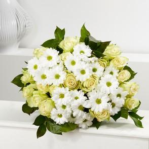 Bouquet Aube blanc