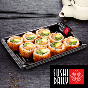 9 Spicy rolls au saumon