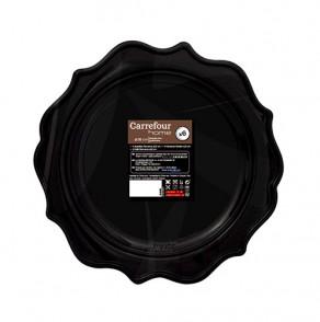 6 assiettes Romance 26cm noires