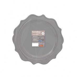 6 assiettes Romance 26cm grises