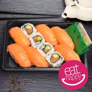 Assortiment sushis et california tout saumon - 10 pièces