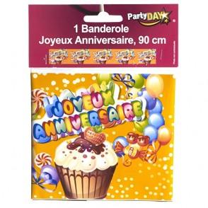 "Banderole anniversaire ""Cupcake"" 90cm"