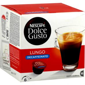 Café capsules Lungo Décaffeinato Dolce Gusto