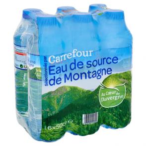 Eau source de montagne Carrefour