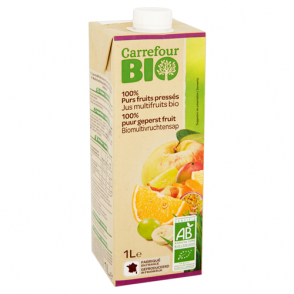 Jus multifruits bio Carrefour Bio
