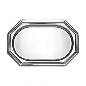 Plateau octogonal argent 46x30cm