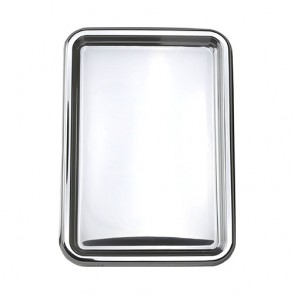 2 plateaux rectangles argent 35x24cm