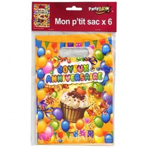 """6 sachets cadeau """"Cupcake"""""""