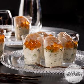 12 Verrines risotto crevettes