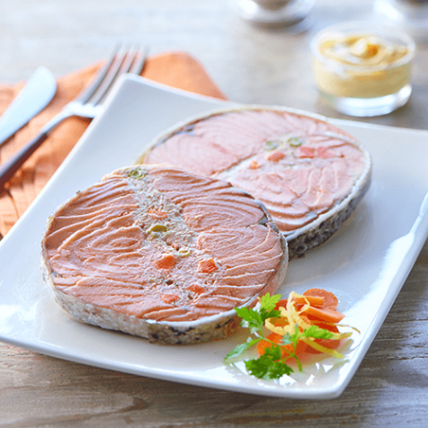 Darne de saumon Label Rouge farci aux petits légumes