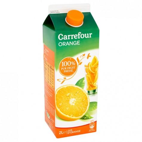 Jus d'orange 100% pur fruit pressé Carrefour