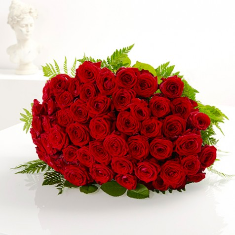 Bouquet de 50 roses rouges