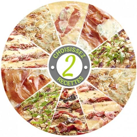 Pizza - 2 saveurs au choix - 8 parts
