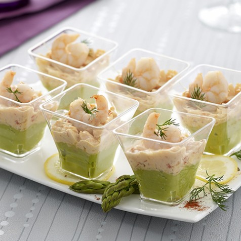 6 Verrines avocat cocktail de crevettes
