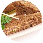 Sandwiches jambon serrano sur beurre léger moutardé