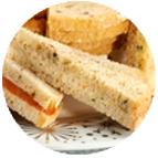 Sandwiches mousse de canard figues