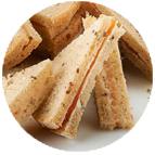 Sandwiches rôti de porc et beurre aux pruneaux