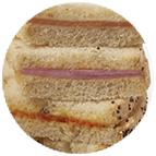 Sandwiches de jambon et beurre à l'américaine
