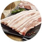 Tranches de poitrine de porc