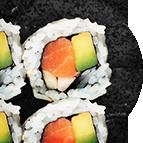 California rolls saumon