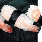 Nigiri sushis crevette