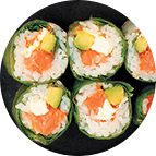 Makis de printemps au saumon