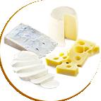 4 fromages : chèvre, gorgonzola, emmental, mozzarella